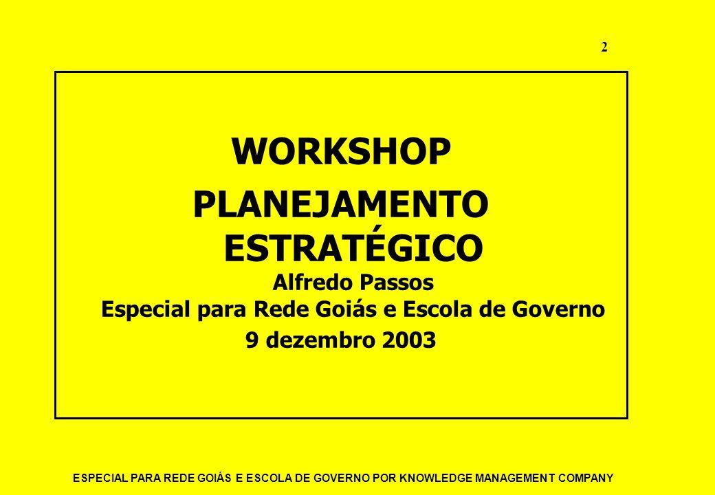 ESPECIAL PARA REDE GOIÁS E ESCOLA DE GOVERNO POR KNOWLEDGE MANAGEMENT COMPANY 13 PARA QUE SERVE.