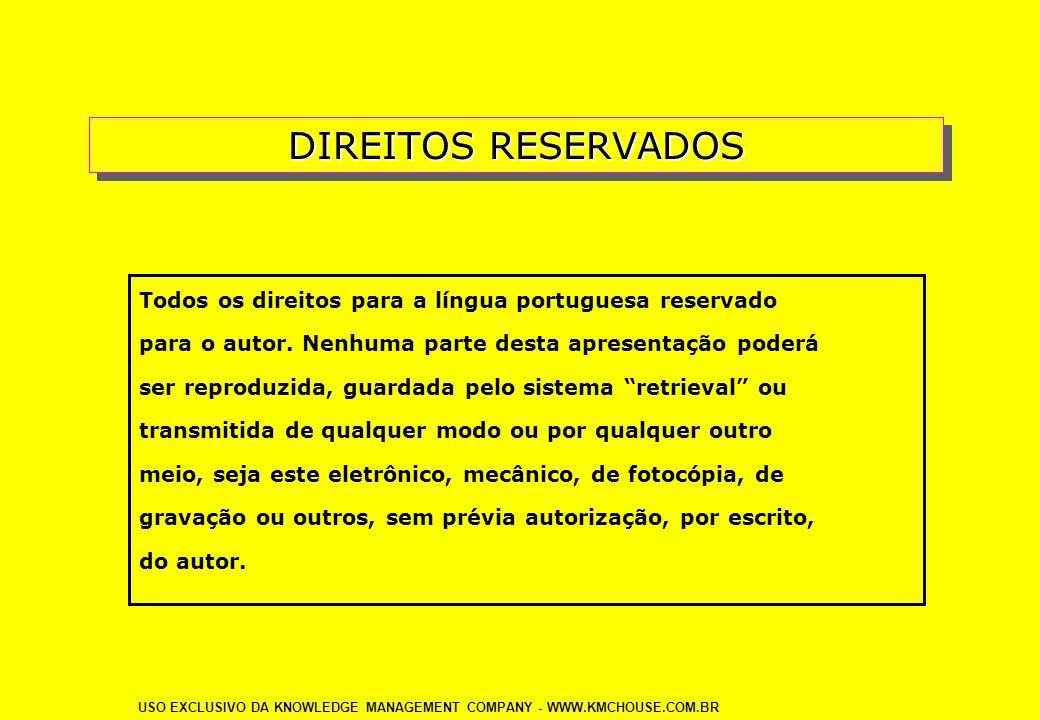 DIREITOS RESERVADOS Todos os direitos para a língua portuguesa reservado para o autor. Nenhuma parte desta apresentação poderá ser reproduzida, guarda