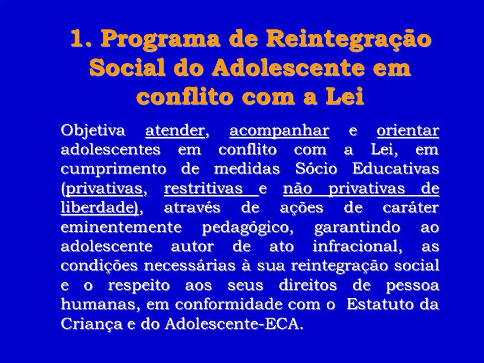 Programas Estratégicos PPA 2004-2007 Reintegração Social do Adolescente em conflito com a Lei.