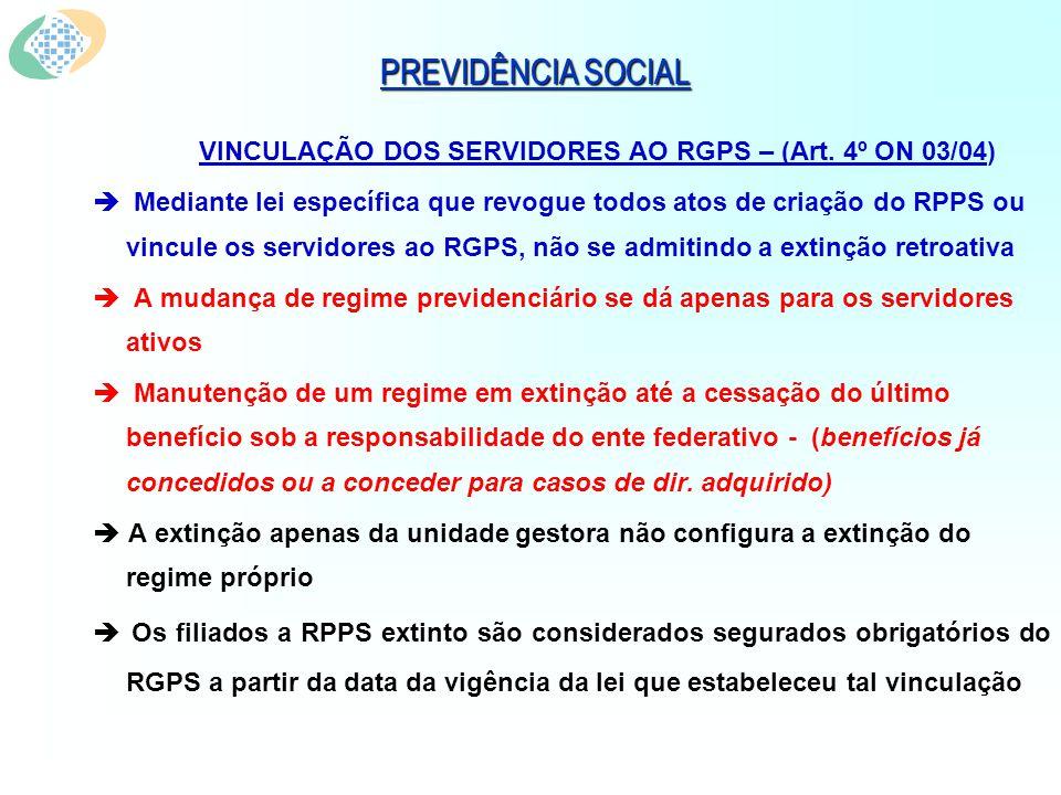 PREVIDÊNCIA SOCIAL UNIDADE GESTORA ÚNICA - § 20 do art.