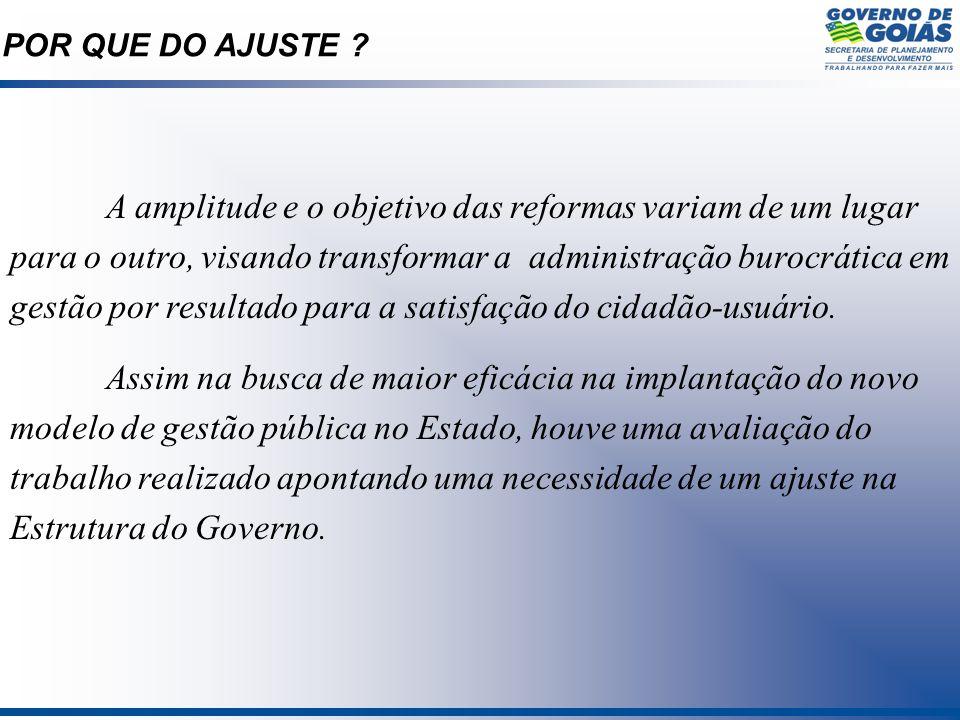 A amplitude e o objetivo das reformas variam de um lugar para o outro, visando transformar a administração burocrática em gestão por resultado para a