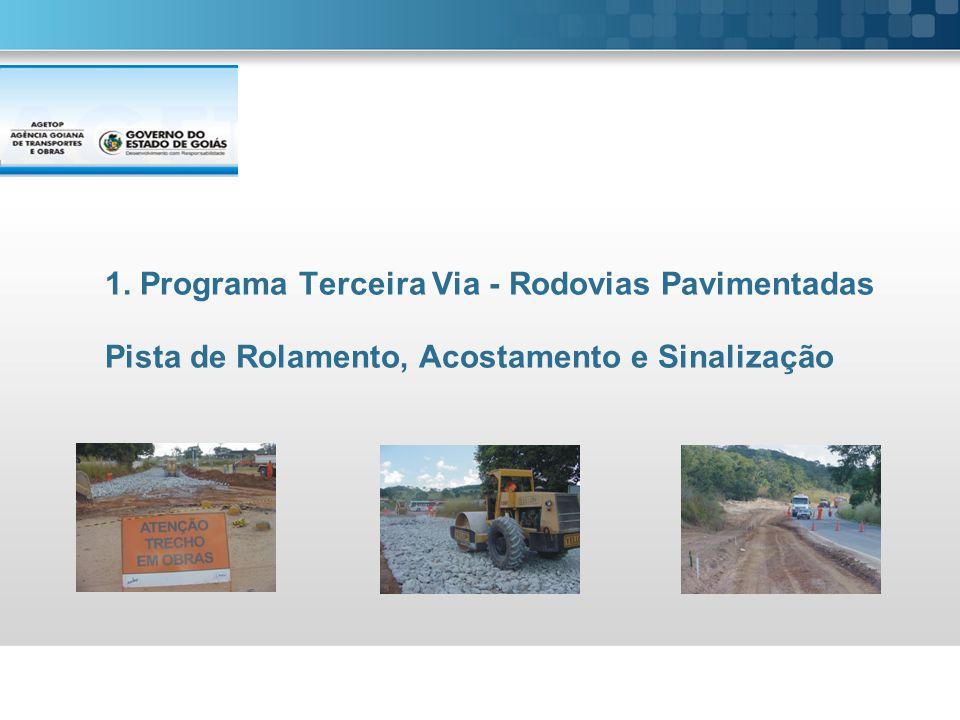 1. Programa Terceira Via - Rodovias Pavimentadas Pista de Rolamento, Acostamento e Sinalização