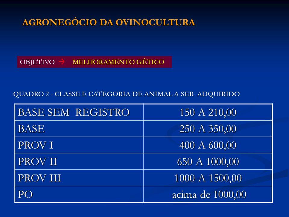 BASE SEM REGISTRO 150 A 210,00 BASE 250 A 350,00 PROV I 400 A 600,00 PROV II 650 A 1000,00 PROV III 1000 A 1500,00 PO acima de 1000,00 acima de 1000,0