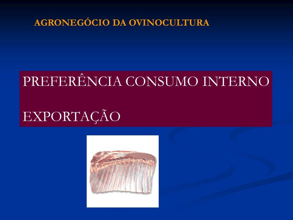 PREFERÊNCIA CONSUMO INTERNO EXPORTAÇÃO AGRONEGÓCIO DA OVINOCULTURA