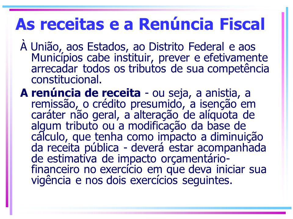 Além disso, para estar de acordo com a LRF, cada governante deverá demonstrar que a renúncia de receita foi considerada na Lei Orçamentária Anual - LOA e que não afetará as metas previstas na Lei de Diretrizes Orçamentárias - LDO.