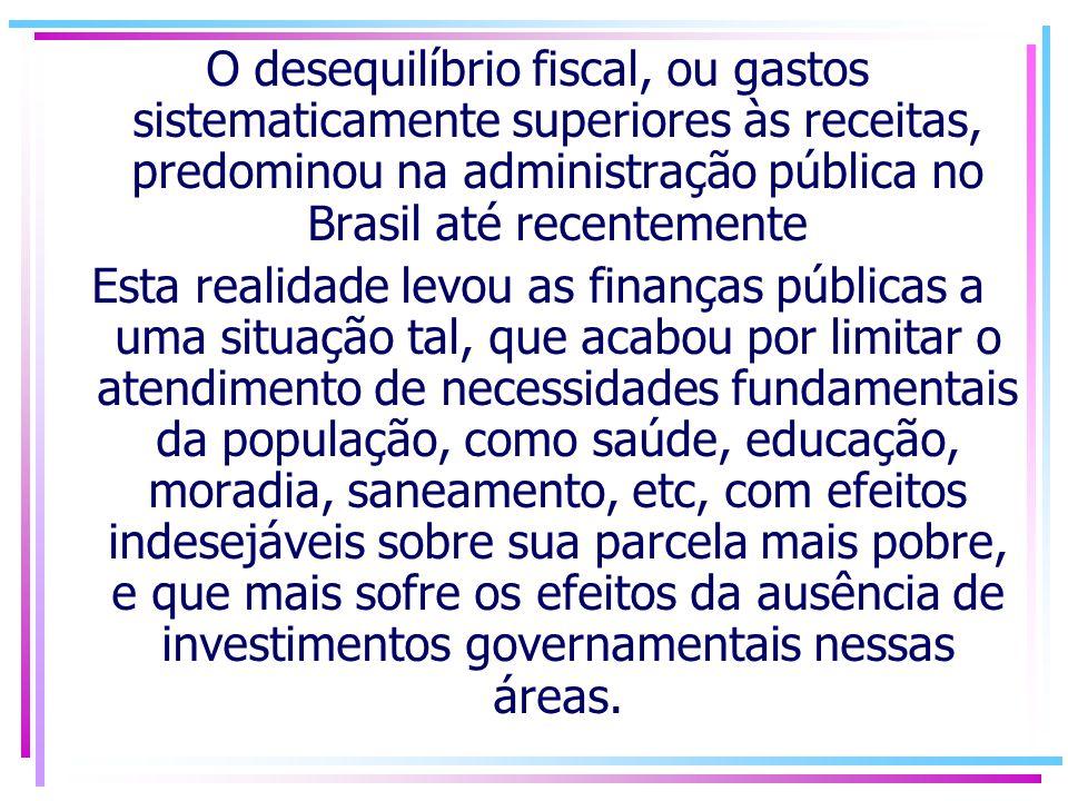 Nesse contexto, a Lei de Responsabilidade Fiscal (LRF) representa um instrumento para auxiliar os governantes a gerir os recursos públicos dentro de um marco de regras claras e precisas, aplicadas a todos os gestores de recursos públicos e em todas as esferas de governo, relativas à gestão da receita e da despesa públicas, ao endividamento e à gestão do patrimônio público