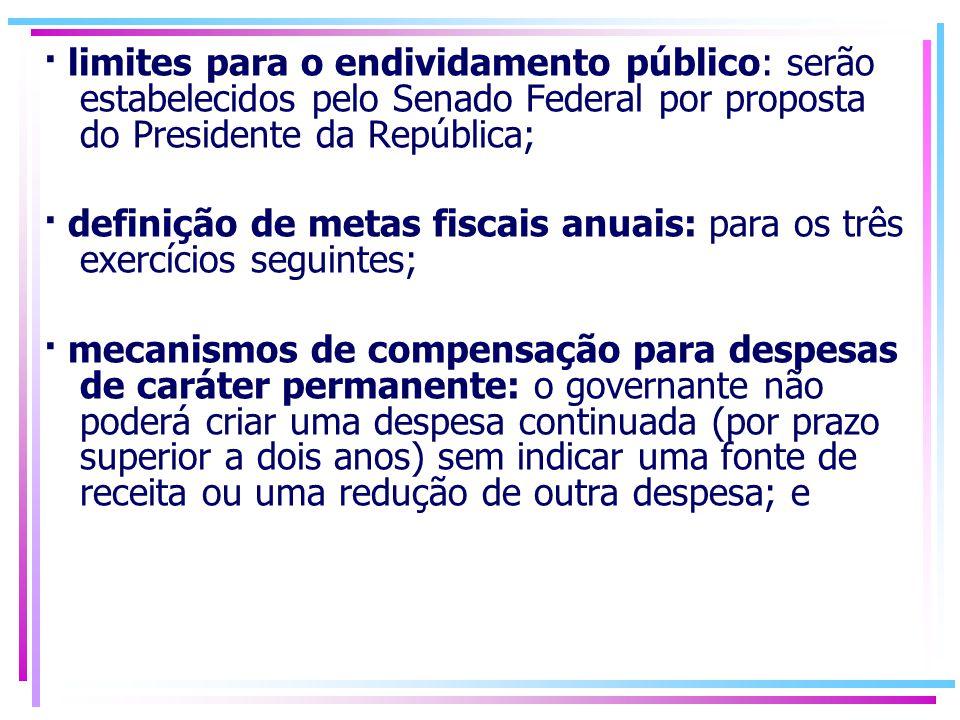 mecanismo para controle das finanças públicas em anos de eleição: a Lei impede a contratação de operações de crédito por antecipação de receita orçamentária (ARO) no último ano de mandato e proíbe o aumento das despesas com pessoal nos 180 dias que antecedem o final do mandato