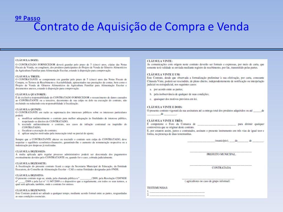 Contrato de Aquisição de Compra e Venda 9º Passo