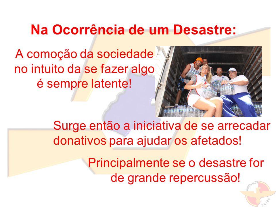 ADMISTRAR A ARRECADAÇÃO DE DONATIVOS ANTES MESMO DE COMEÇAR.
