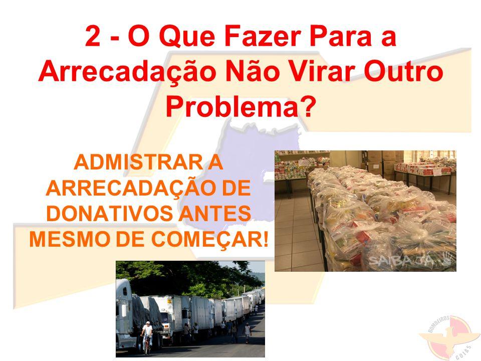 Doações arrecadadas em Goiás para as vítimas das enchentes na Região Serrana do Rio de Janeiro.