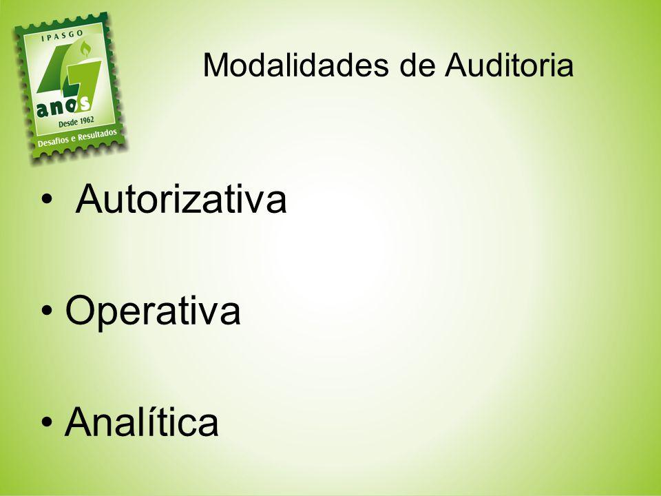 Modalidades de Auditoria Autorizativa Operativa Analítica