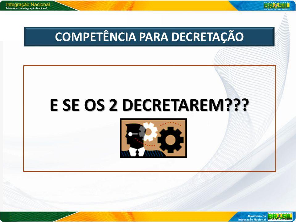 COMPETÊNCIA PARA DECRETAÇÃO R: VALE A DO ESTADO!