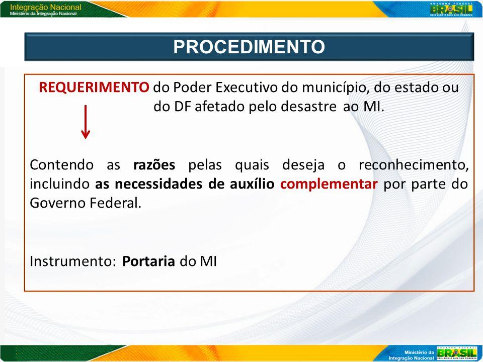 ORDINÁRIO O Reconhecimento está condicionado à análise e comprovação dos critérios de decretação; SUMÁRIO Reconhecimento com base apenas no requerimento e no Decreto do respectivo ente.