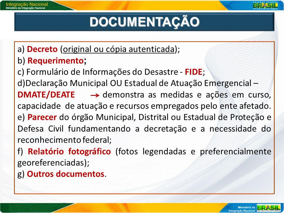 Constatada, a qualquer tempo, a presença de vícios nos documentos ou a inexistência da S.E.