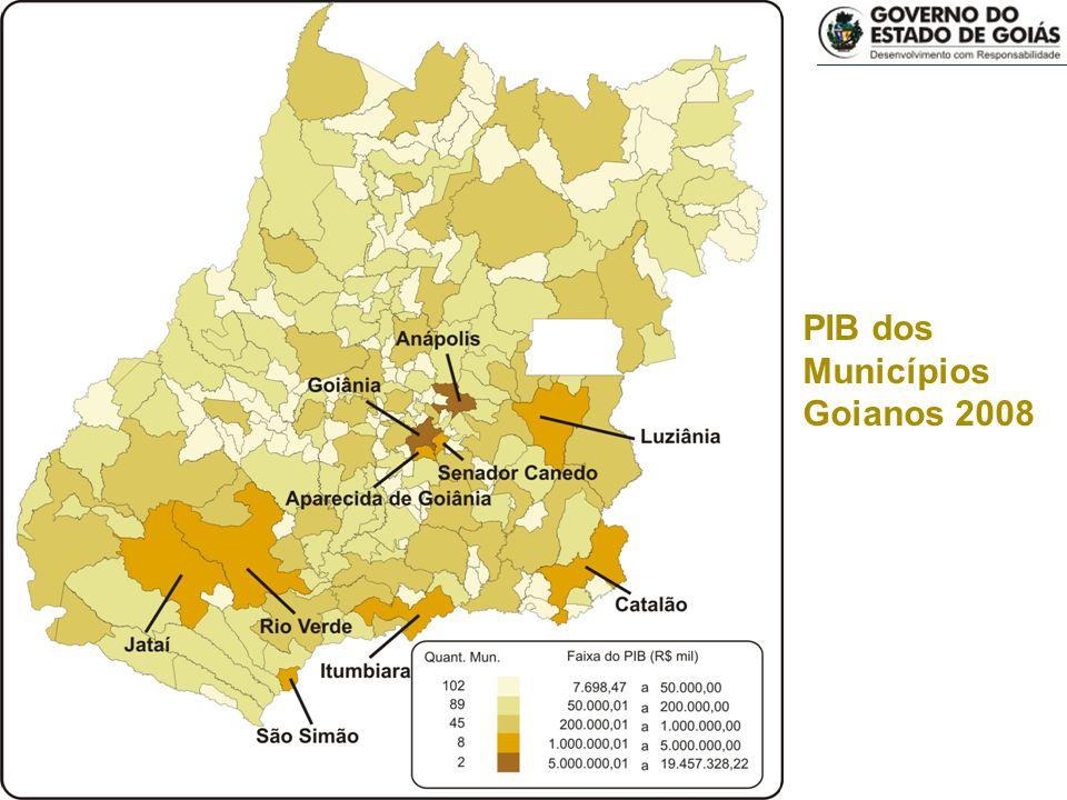 Municípios goianos 2008 Seplan/Sepin PIB dos Municípios Goianos 2008
