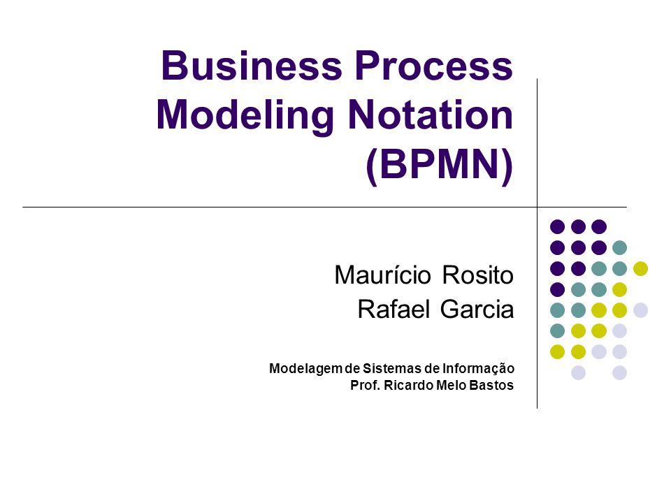 Business Process Modeling Notation (BPMN) Maurício Rosito Rafael Garcia Modelagem de Sistemas de Informação Prof. Ricardo Melo Bastos