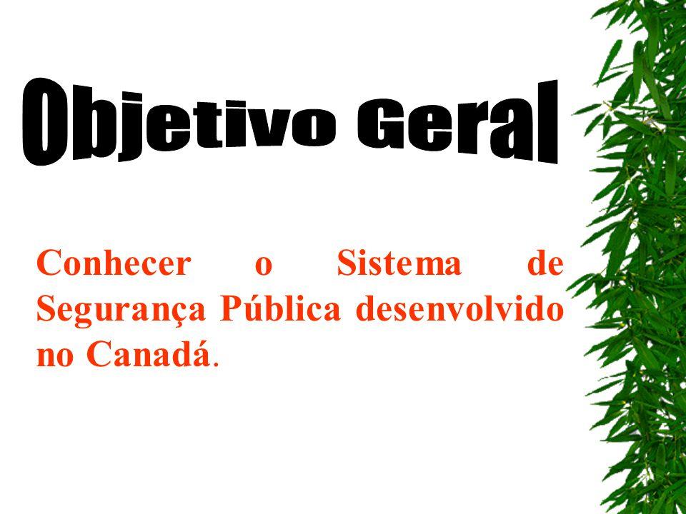 1 Conhecer o Sistema de Segurança Pública desenvolvido no Canadá.