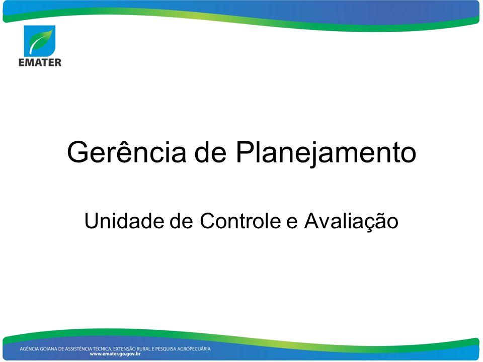 Gerência de Planejamento Unidade de Controle e Avaliação