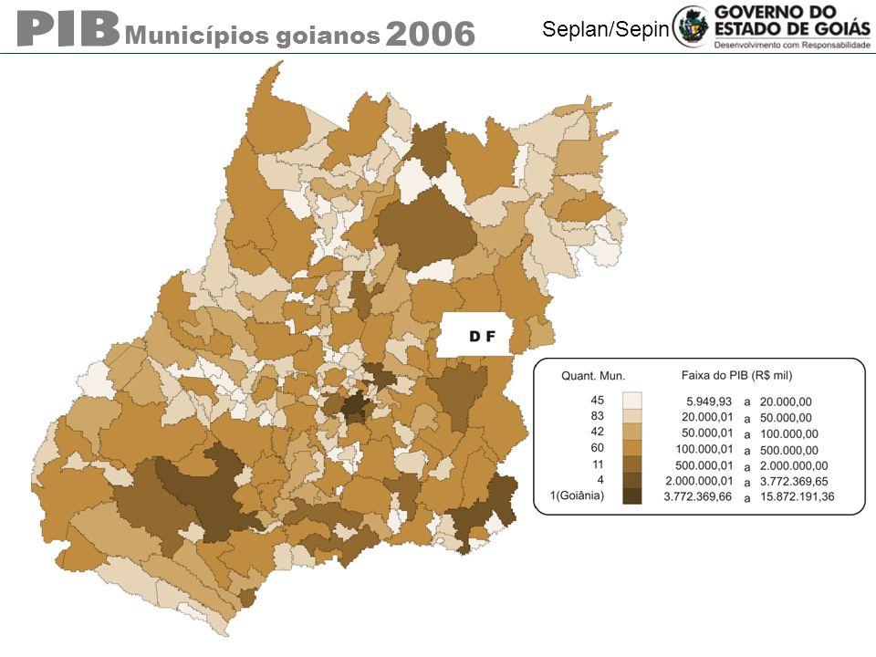 Municípios goianos 2006 Seplan/Sepin