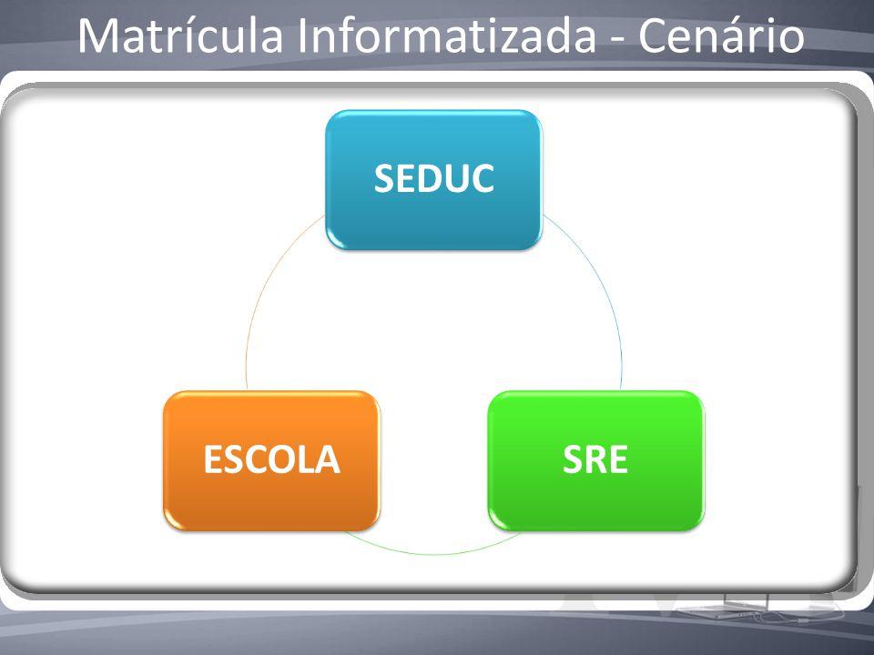 Matrícula Informatizada - Cenário SEDUCSREESCOLA