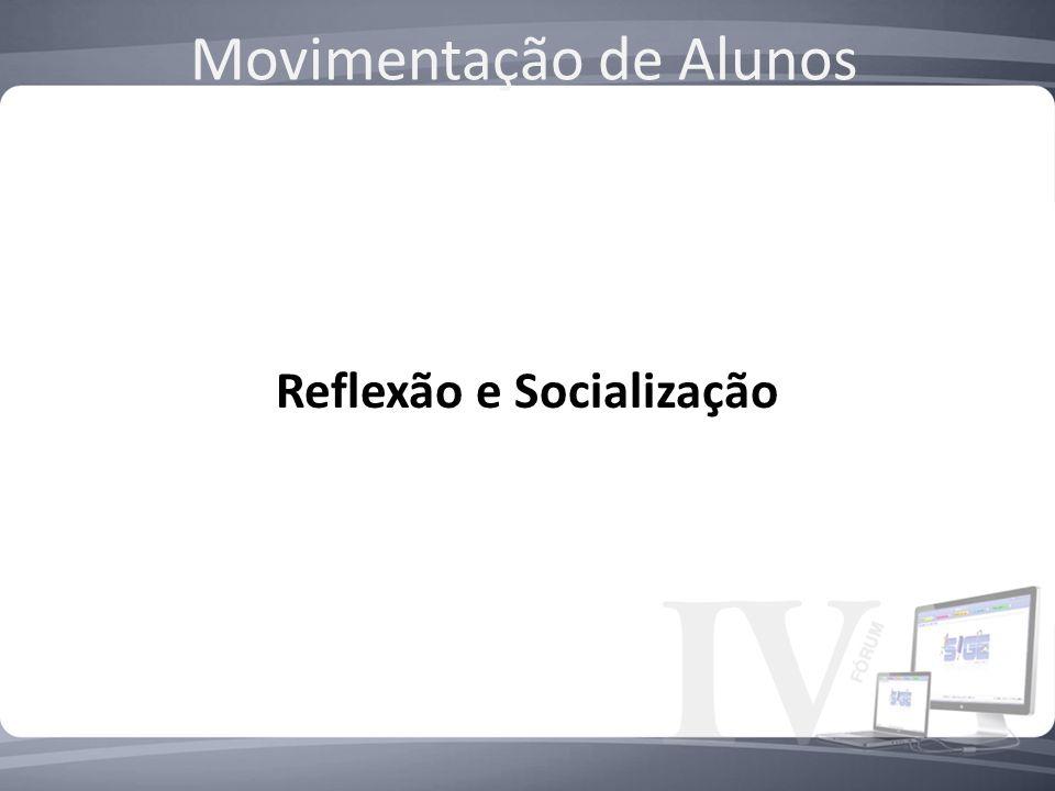 Reflexão e Socialização Movimentação de Alunos