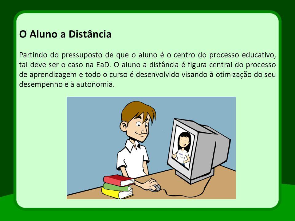 Partindo do pressuposto de que o aluno é o centro do processo educativo, tal deve ser o caso na EaD. O aluno a distância é figura central do processo