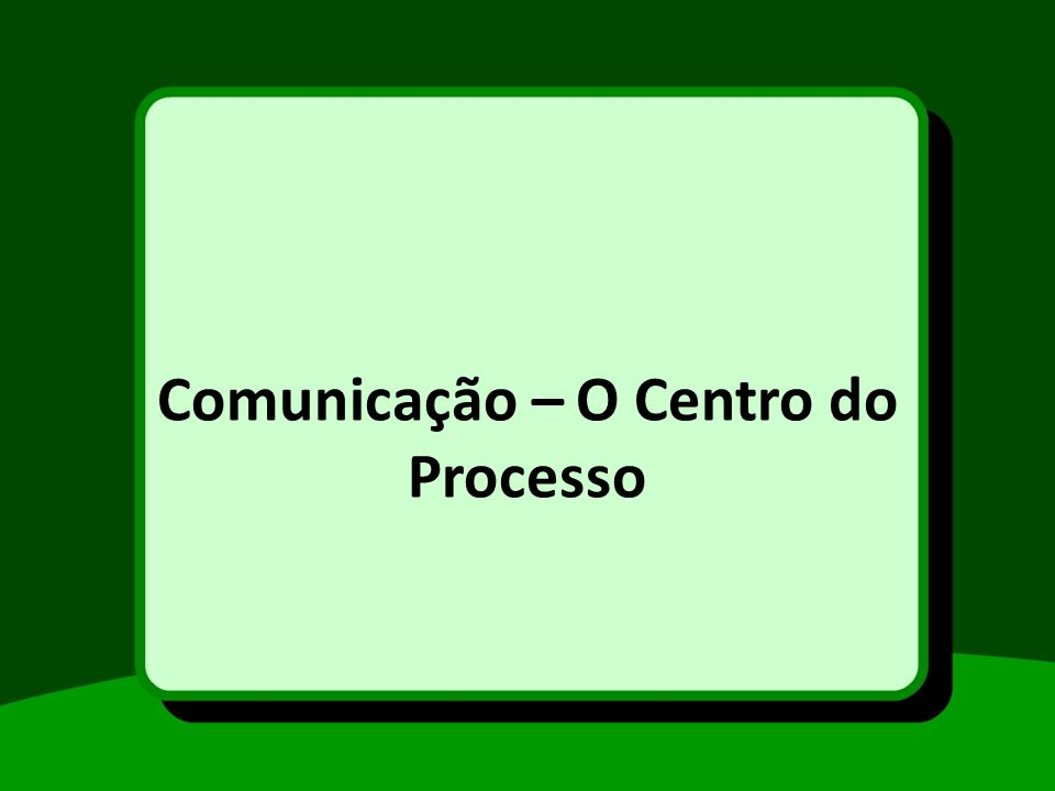 Comunicação – O Centro do Processo