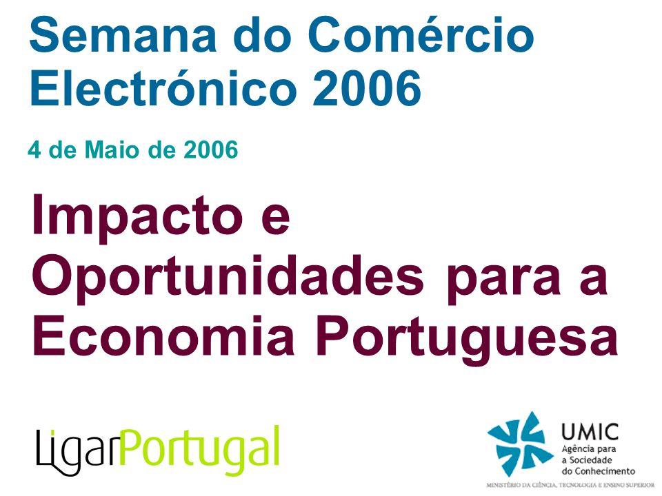 Semana do Comércio Electrónico 2006 4 de Maio de 2006 Impacto e Oportunidades para a Economia Portuguesa