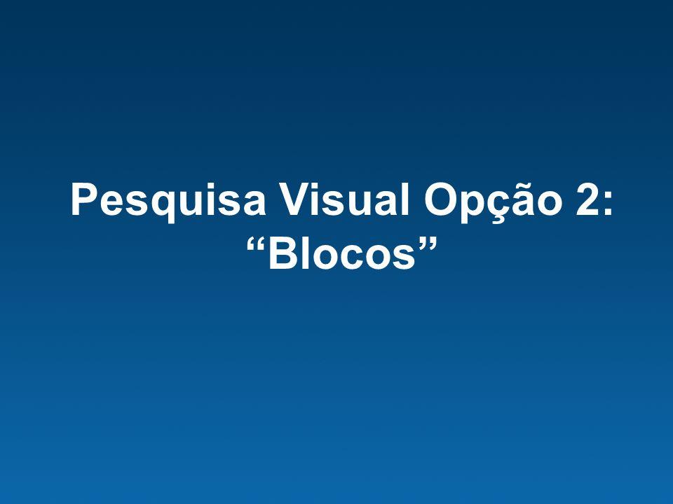 Pesquisa Visual Opção 2: Blocos