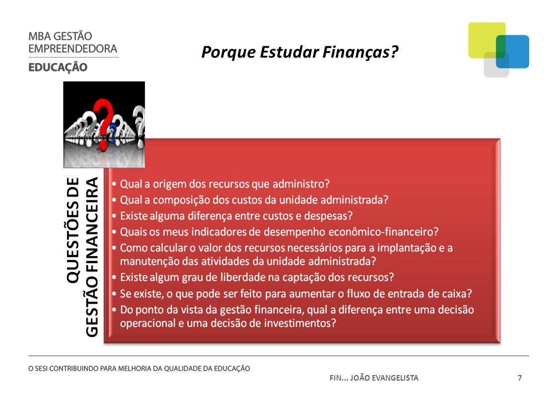 FIN... JOÃO EVANGELISTA7 Porque Estudar Finanças?