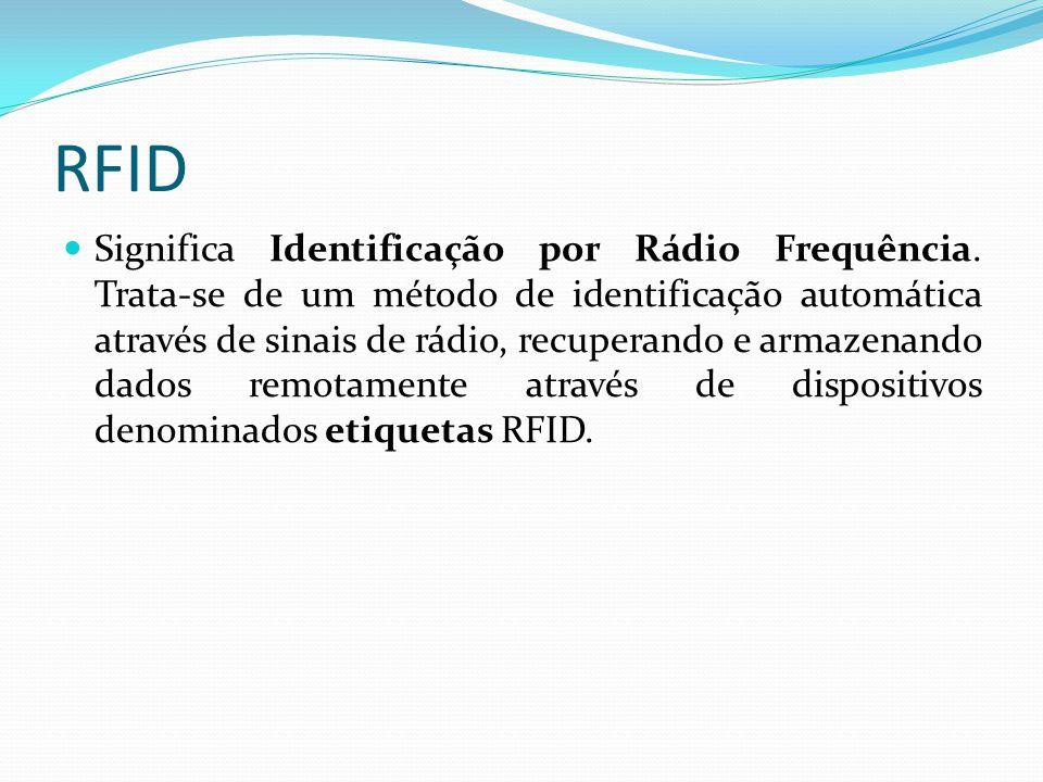 RFID Significa Identificação por Rádio Frequência. Trata-se de um método de identificação automática através de sinais de rádio, recuperando e armazen
