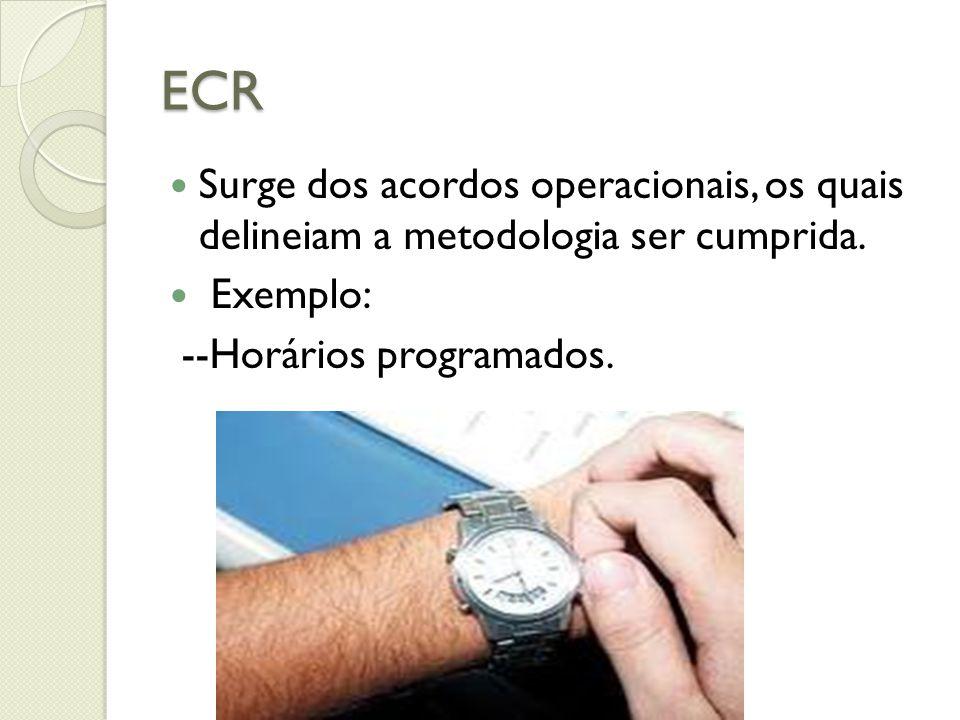 ECR Surge dos acordos operacionais, os quais delineiam a metodologia ser cumprida. Exemplo: --Horários programados.