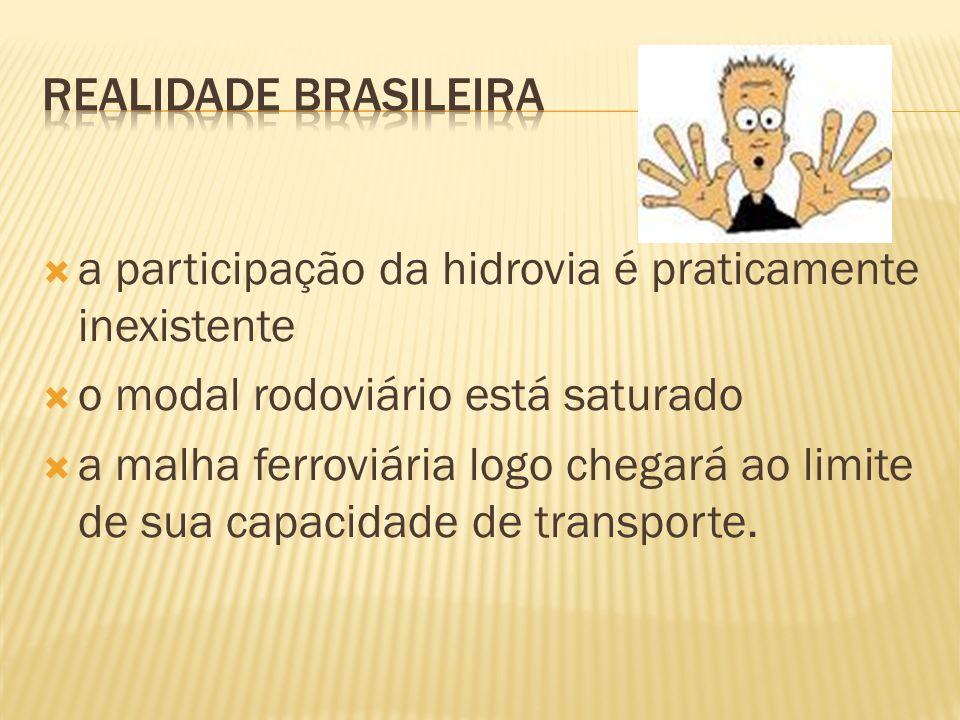 A infra-estrutura do sistema de transporte de carga brasileiro, tal como se encontra hoje, acarreta perda de competitividade e, portanto, elevação do Custo Brasil.