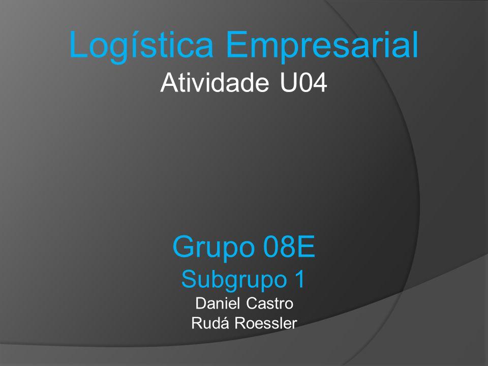 Logística Empresarial Atividade U04 Grupo 08E Subgrupo 1 Daniel Castro Rudá Roessler