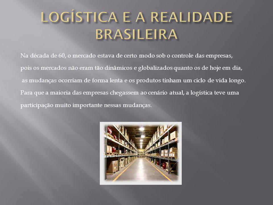Os tipos de transportes utilizados nas empresas brasileiras estão divididos da seguinte forma: 64.83% - Rodoviário 19.90% - Ferroviário 12.75% - Hidroviário 02.52% - Aéreo