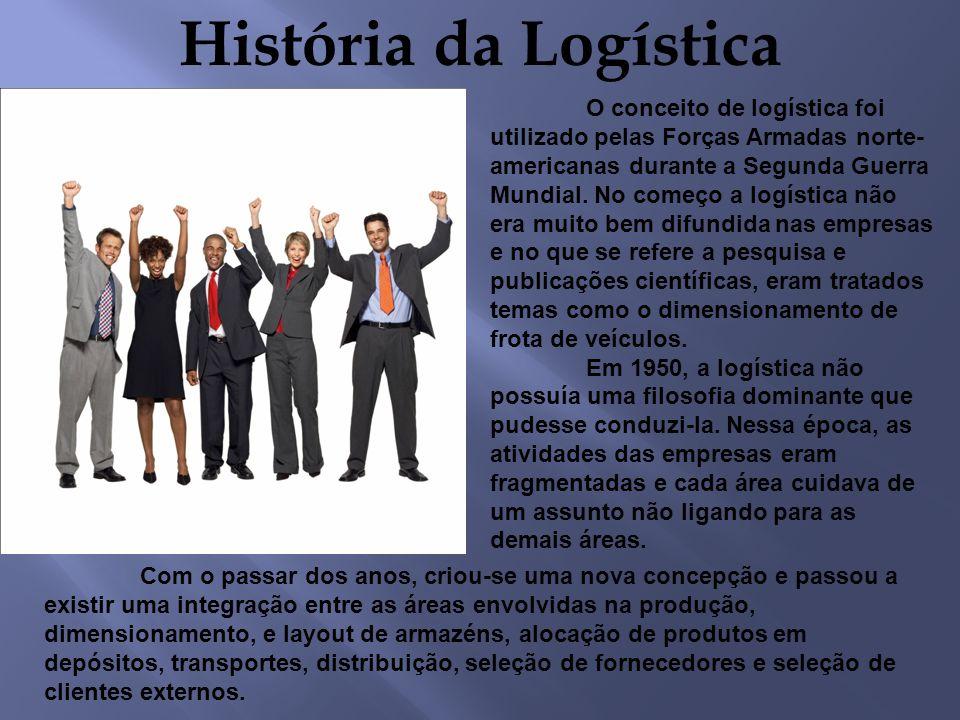 História da Logística O conceito de logística foi utilizado pelas Forças Armadas norte- americanas durante a Segunda Guerra Mundial. No começo a logís