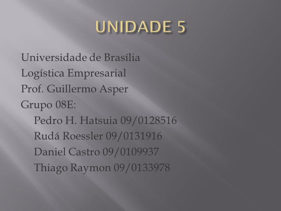 Universidade de Brasília Logística Empresarial Prof.