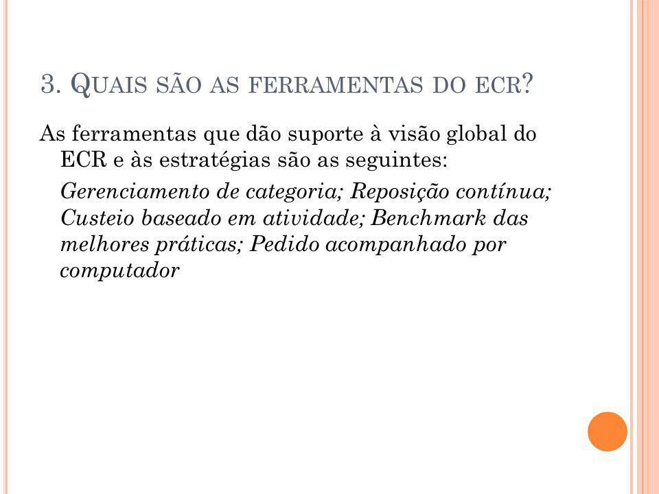 3. Q UAIS SÃO AS FERRAMENTAS DO ECR .