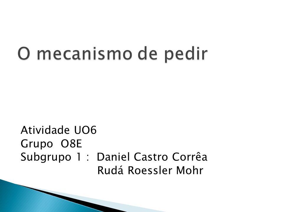 Atividade UO6 Grupo O8E Subgrupo 1 : Daniel Castro Corrêa Rudá Roessler Mohr