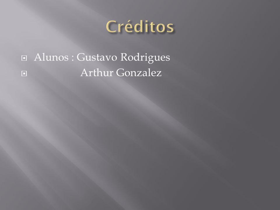 Alunos : Gustavo Rodrigues Arthur Gonzalez