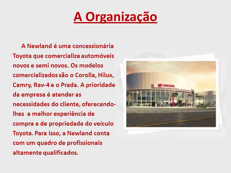 A Organização A Newland é uma concessionária Toyota que comercializa automóveis novos e semi novos.