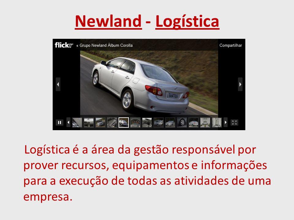 Newland - Logística Logística é a área da gestão responsável por prover recursos, equipamentos e informações para a execução de todas as atividades de