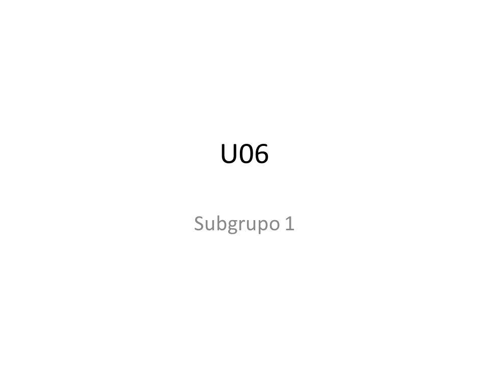 U06 Subgrupo 1