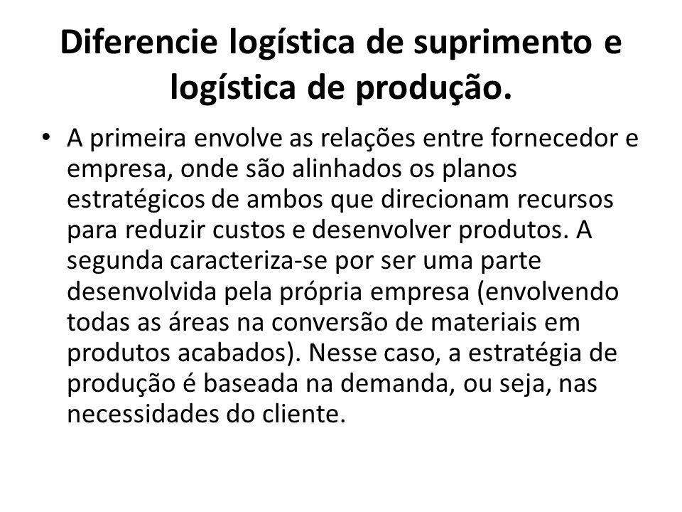 A primeira envolve as relações entre fornecedor e empresa, onde são alinhados os planos estratégicos de ambos que direcionam recursos para reduzir cus