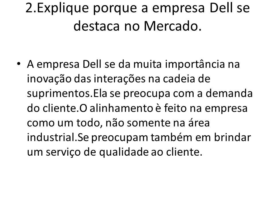 2.Explique porque a empresa Dell se destaca no Mercado.