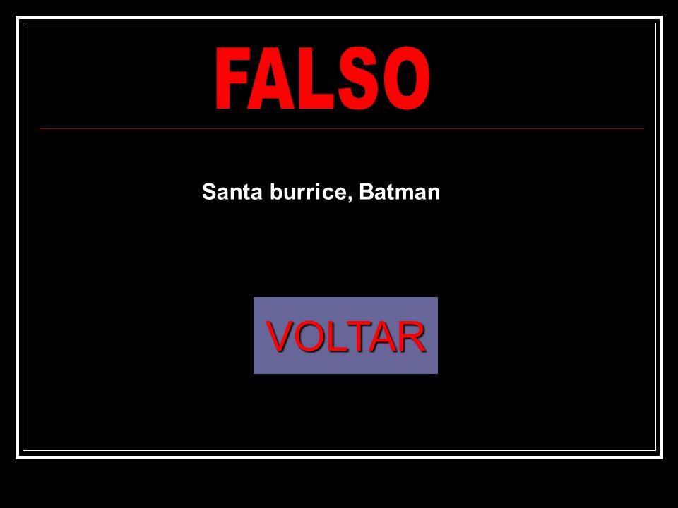VOLTAR Santa burrice, Batman