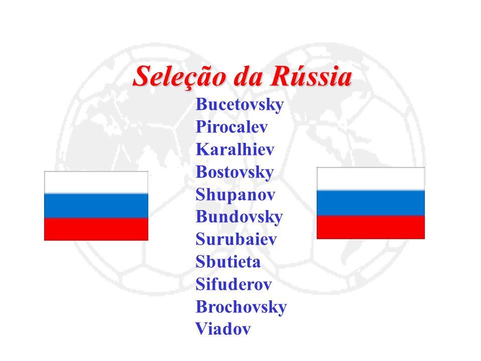 Seleção da Rússia Bucetovsky Pirocalev Karalhiev Bostovsky Shupanov Bundovsky Surubaiev Sbutieta Sifuderov Brochovsky Viadov