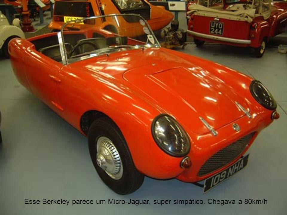 Esse Berkeley parece um Micro-Jaguar, super simpático. Chegava a 80km/h