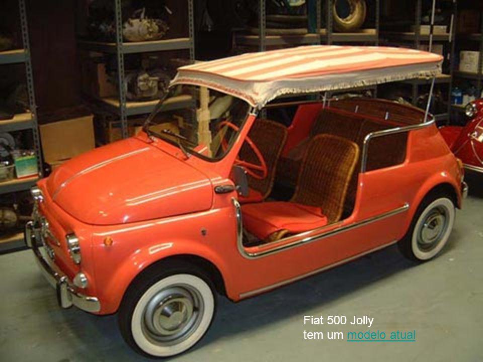 Fiat 500 Jolly tem um modelo atualmodelo atual