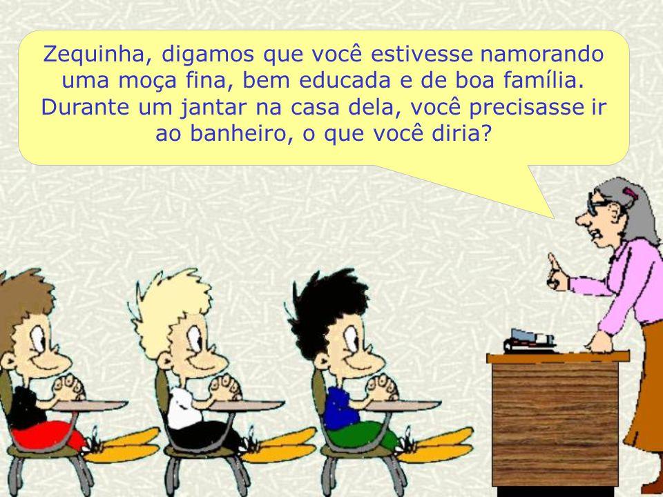 Durante a aula de Boas Maneiras, a professora pergunta aos seus alunos: Colaboração: Fernanda Ferreira Costa